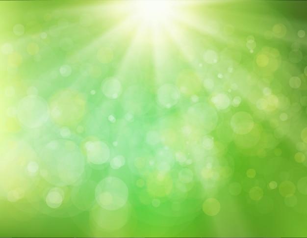 Fundo verde do sunburst