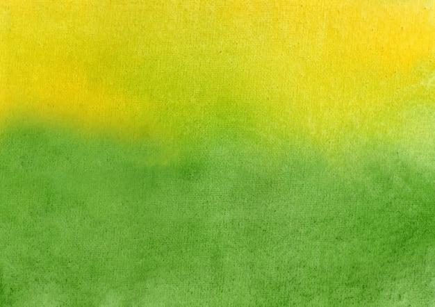 Fundo verde e amarelo aquarela e fundo abstrato de textura