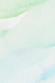 Fundo verde e azul estilo aquarela