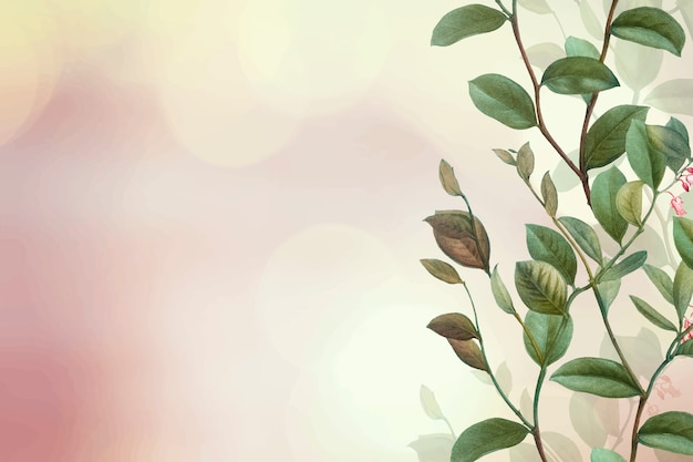 Fundo verde floral
