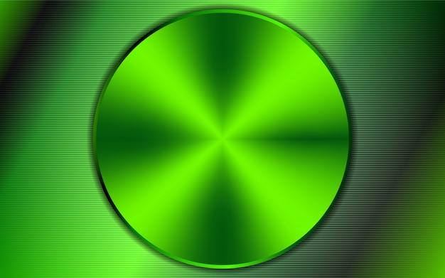 Fundo verde formas arredondadas de metal