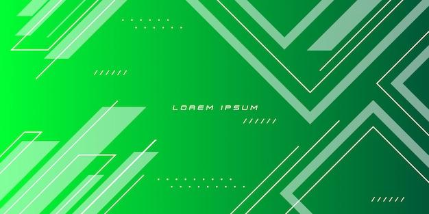 Fundo verde gradiente forma geométrica