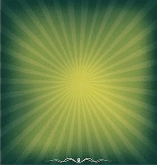 Fundo verde sunburst