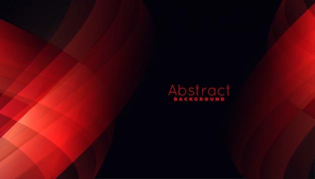 Fundo vermelho abstrato com formas de linhas curvas