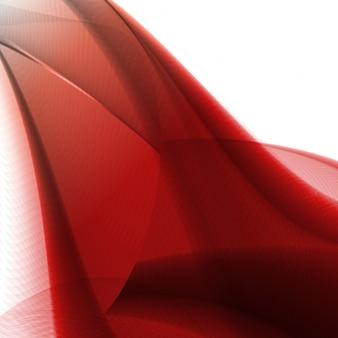Fundo vermelho abstrato, ilustração ondulada futurista, ilustração abstrata colorida