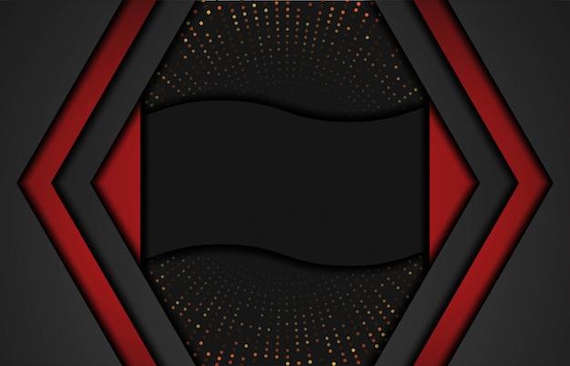 Fundo vermelho abstrato moderno com formas