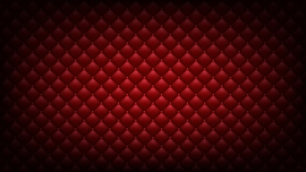 Fundo vermelho acolchoado. papel de parede widescreen.