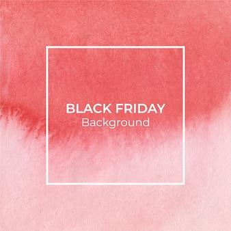 Fundo vermelho aquarela blackfriday