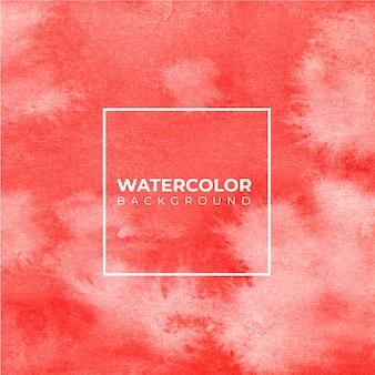 Fundo vermelho aquarela com textura de papel. Vetor Premium