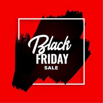 Fundo vermelho aquarela preto sexta-feira