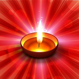 Fundo vermelho brilhante de diwali