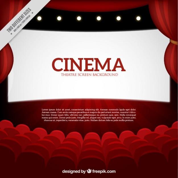 Fundo vermelho cinema