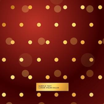 Fundo vermelho com bolinhas douradas