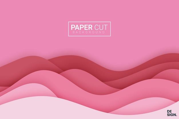 Fundo vermelho com corte de papel
