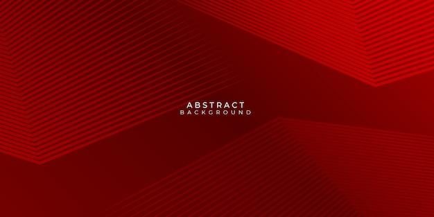 Fundo vermelho com linhas abstratas stipes modernos