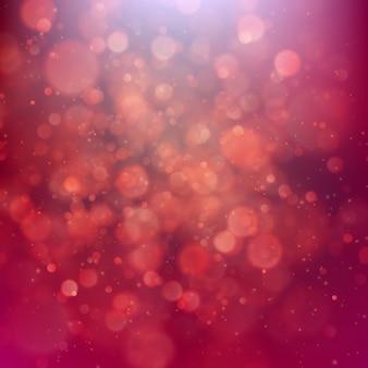 Fundo vermelho com luzes de bokeh.