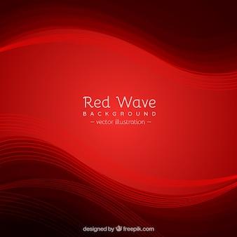 Fundo vermelho com ondas elegantes