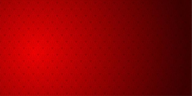 Fundo vermelho com padrão oriental