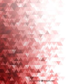 Fundo vermelho com triângulos