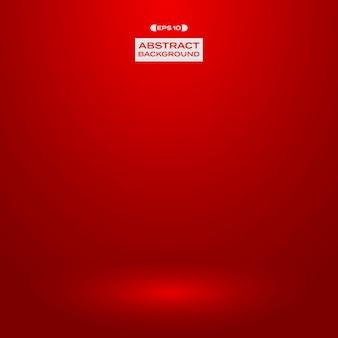Fundo vermelho da apresentação do estúdio do inclinação.
