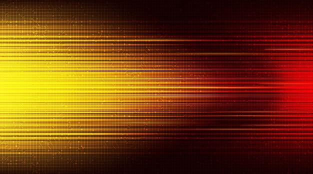 Fundo vermelho da tecnologia da velocidade da luz; futuro e rede