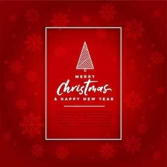 Fundo vermelho de celebração de cartão de festival de natal