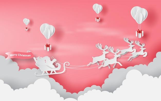 Fundo vermelho de feliz natal