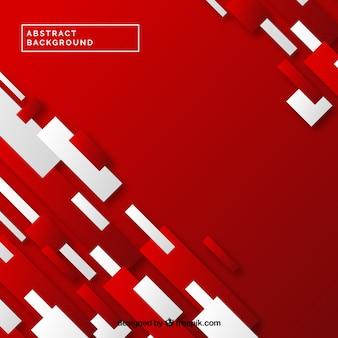 Fundo vermelho de formas abstratas
