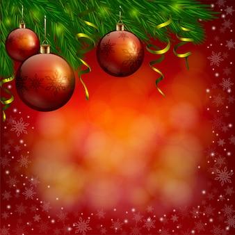Fundo vermelho de natal e ano novo