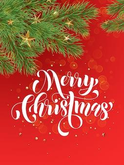 Fundo vermelho decorativo com enfeites de natal dourados