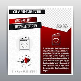 Fundo vermelho do vermelho da bandeira do ícone vermelho feliz do dia de valentim. ilustração vetorial