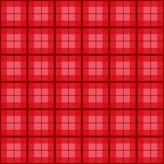 Fundo vermelho do vintage do tartan do natal