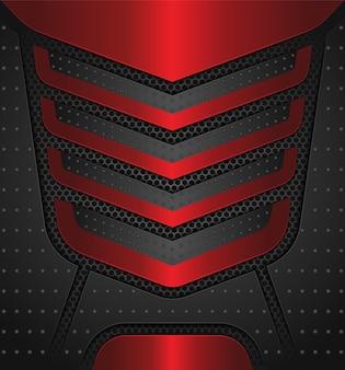 Fundo vermelho e preto metálico luxuoso moderno