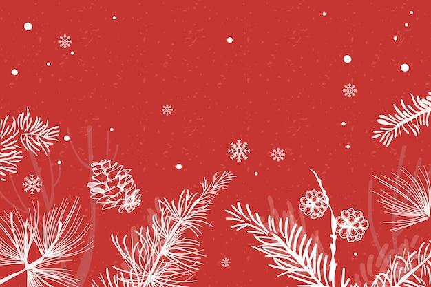 Fundo vermelho festivo da árvore de natal