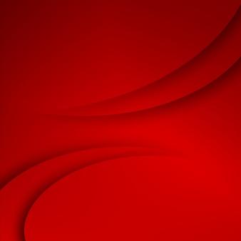 Fundo vermelho formas abstratas.