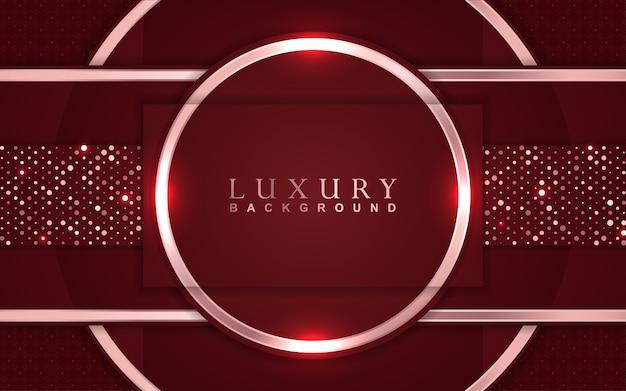 Fundo vermelho luxuoso com decoração de brilhos dourados