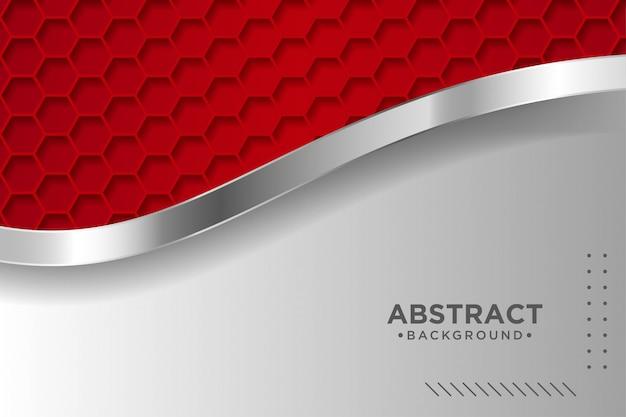 Fundo vermelho moderno com efeito de camadas de sobreposição 3d. elementos de design gráfico.