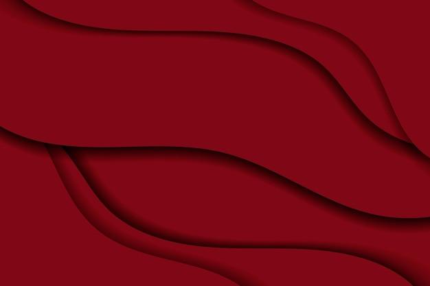 Fundo vermelho ondulado abstrato