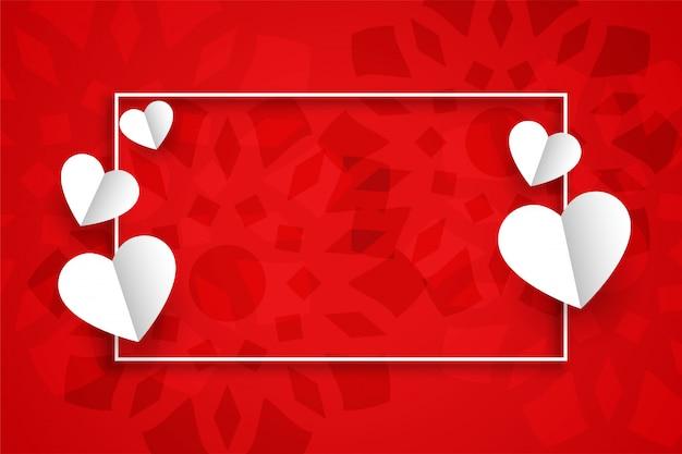 Fundo vermelho para dia dos namorados com espaço de texto