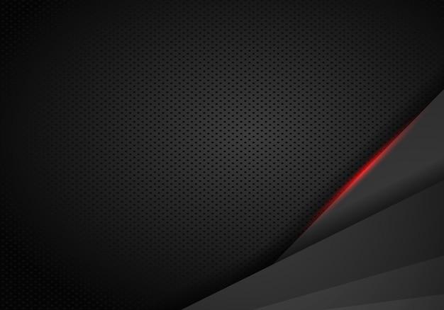 Fundo vermelho preto metálico abstrato da inovação do conceito de projeto do esporte do quadro.