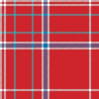 Fundo vermelho verificar tecido textura sem costura padrão