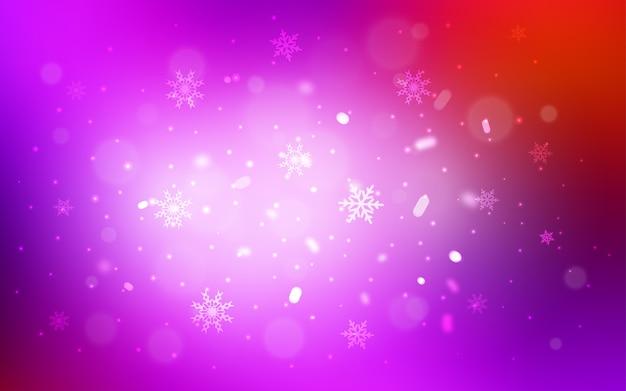 Fundo vermelho vetor com flocos de neve de natal Vetor Premium