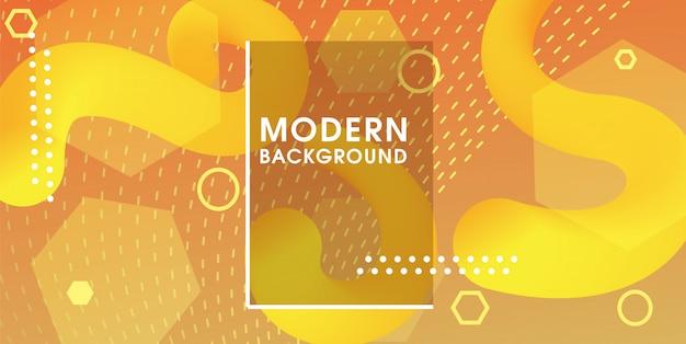 Fundo vibrante amarelo moderno