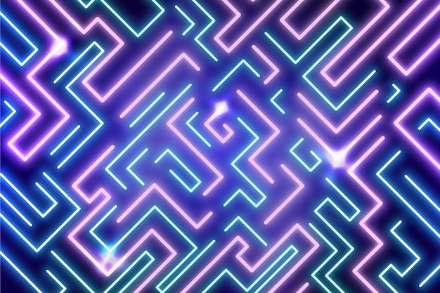 Fundo vibrante de luzes de néon