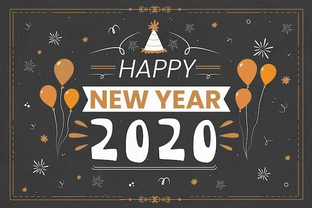 Fundo vintage ano novo 2020