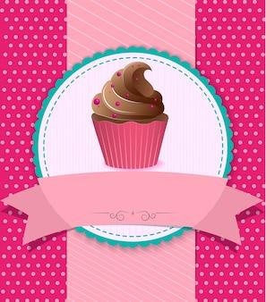 Fundo vintage cupcake