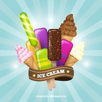 Fundo vintage de sorvete