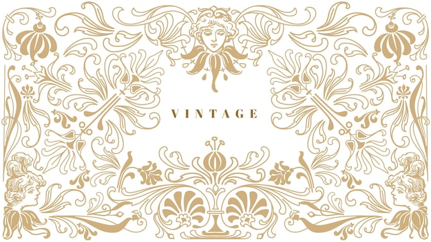 Fundo vintage ornamental
