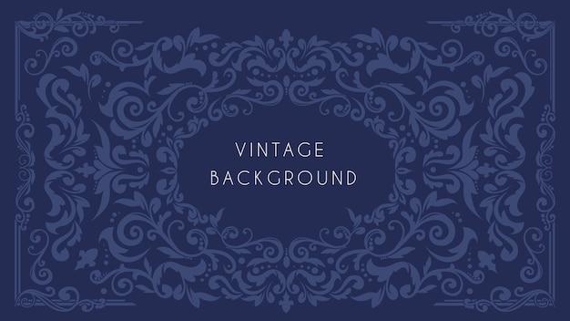 Fundo vintage ornamental