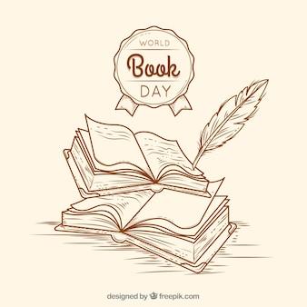 Fundo vintage para o dia mundial do livro